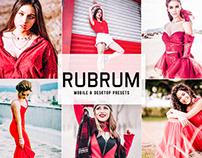 Free Rubrum Mobile & Desktop Lightroom Presets