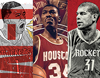 Houston Rockets 50 Seasons Player Poster Series