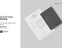 A6 & A5 Paper Mockup