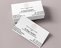 Bulgarian Embassy in Skopje, Business Card Design