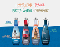 Illustration Water Bottle Design - SIRMA