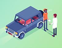 illustration/ car
