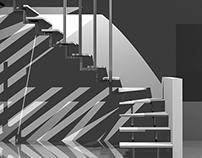 Visioni prospettiche di architettura d'interni