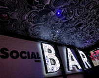 Social Chill Bar Ceiling Mural
