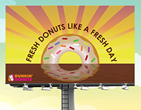 Dunkin Donuts Outdoor Advertisement