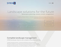 Mockup for Syrinx website (version)