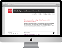 AIGA CCSF Student Group website