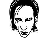 Marylin Manson vector illustration.