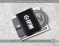 Custom Etched Black Leatherette Money Clip
