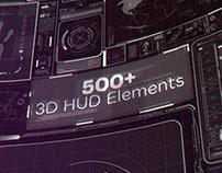 500+ 3D HUD Elements