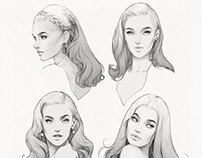 Sketch: Old Hollywood Glamour
