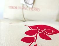 Tzekos Organic Herbs: identity / basic packaging set
