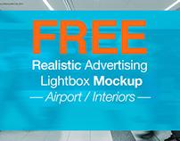 FREE Realistic Lightbox Mockup