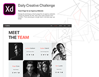 Team Page for an Agency Website - Adobe XD