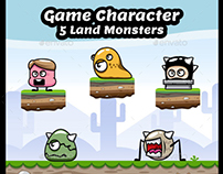 Enemy Game Character - 5 Land Monsters