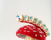 Felt Caterpillar-ish Bug Brooches