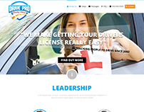 Drive Pro - Driving School - Homepage Design