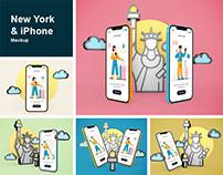 New York & iPhone Mockup