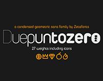 Duepuntozero typeface family - 3 FREE weights