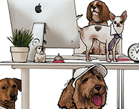 Diligent - Dog Holiday Illustrations
