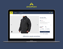 Redesign Anorak e-shop