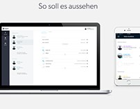 Interface-Design-Konzept für responsive Web-App