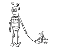 Coloring book about ROBOTS