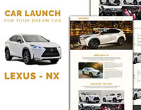 Car Launch - Landing page