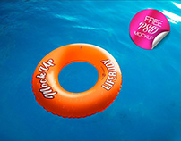 FREE LIFEBUOY MOCK-UP IN PSD