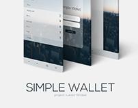 SIMPLE WALLET app.