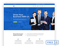 Free Corporate Website PSD Template