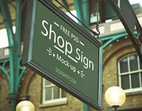 Free Store Sign Mockup PSD