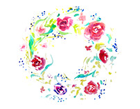 flower watercolor decoration
