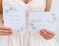 Organic Themed Wedding Invites