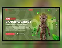 Groot toys | AdobeXD freebie | Free landing