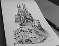 Tribute to Gaudi and Sagrada Familia
