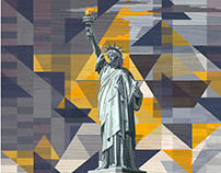 """Opening Up"" NYC Statue of Liberty Illustration"