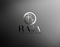 Raja Luxury Hotel Logo Studies