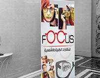 business card - banner roll up design for glasses shop