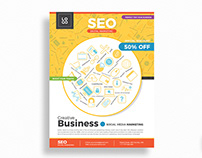 Free SEO Digital Marketing Flyer Template