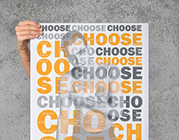 Trainspotting: Choose life poster.