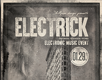 ELECTRICK - Minimal flyer design vol001.