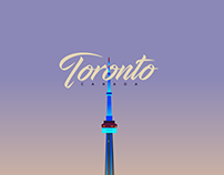 Toronto Canada skyline - Illustration