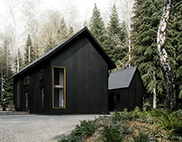 Black Metal Cabin