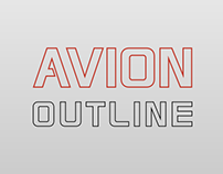 Avion Outline Typeface