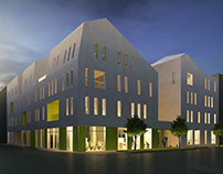 Rapid Re-housing Center - Diploma project studio
