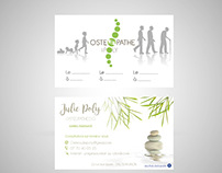 Business card - Julie Poly Ostéopathe