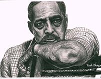 Pencil portrait of Nana Patekar