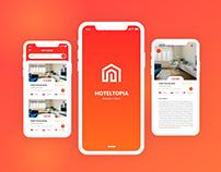 HotelTopia - Hotel Management App Free Adobe XD