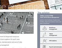 Brochure proposal for RH management App app